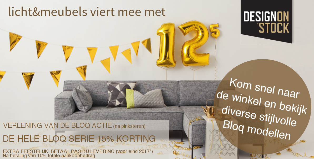 15% korting op BLOQ banken Design on Stock